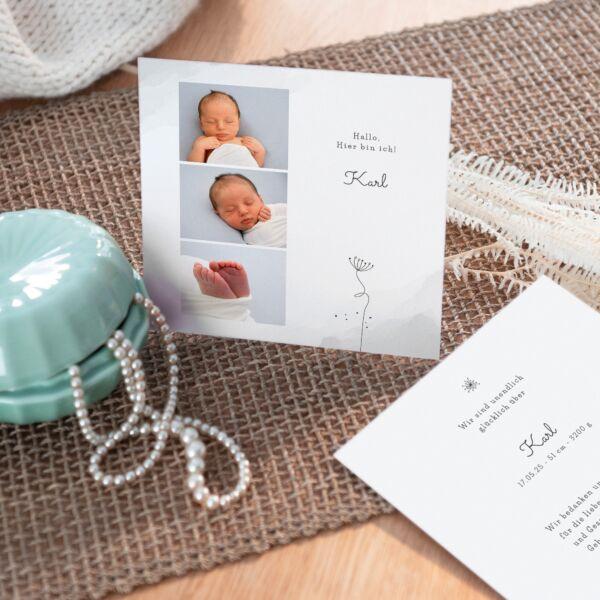 Geburtskarte Fleur