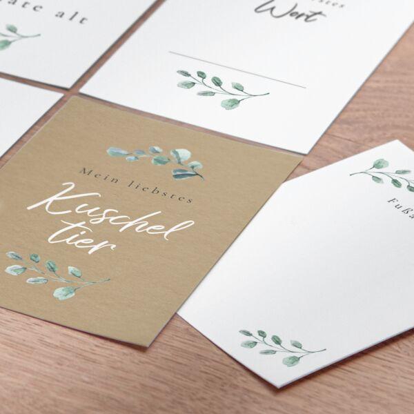 Meilensteinkarten - Eukalyptus